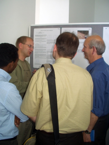 Vincent discussing one of his papers at an international GPR conference